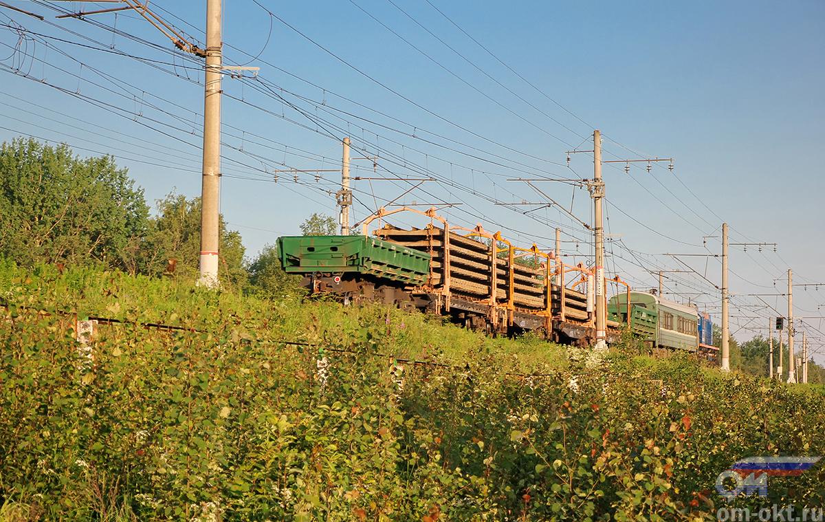 Хозяйственный поезд проследует платформу Межево, перегон Редкино - Тверь