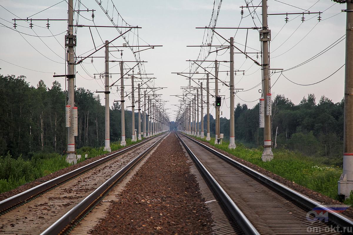 Вид от платформы Межево в сторону платформы Кузьминка