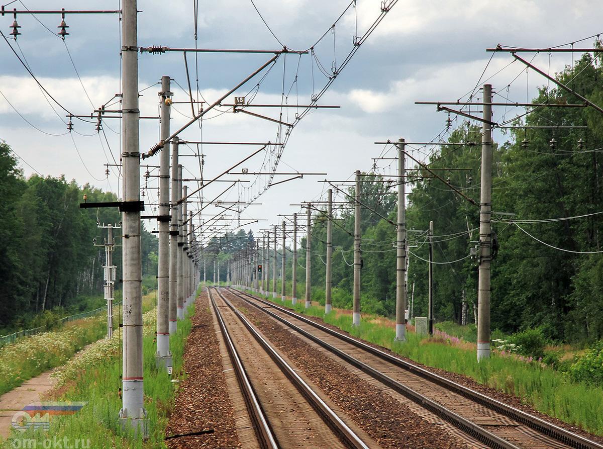 Вид от платформы Московское море в сторону станции Редкино