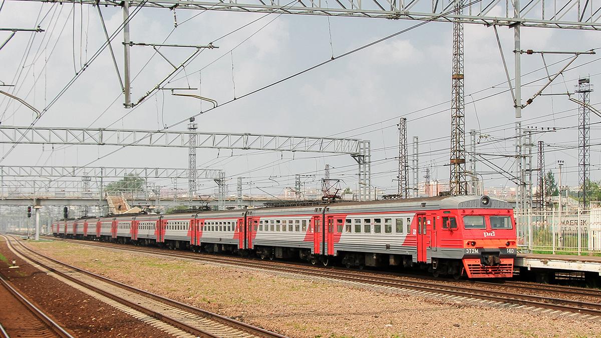 Электропоезд ЭТ2М-140 отправился от платформы Моссельмаш, станция Ховрино