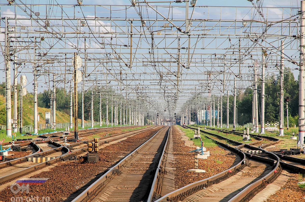 Вид от Поварово-I в сторону платформы Поваровка
