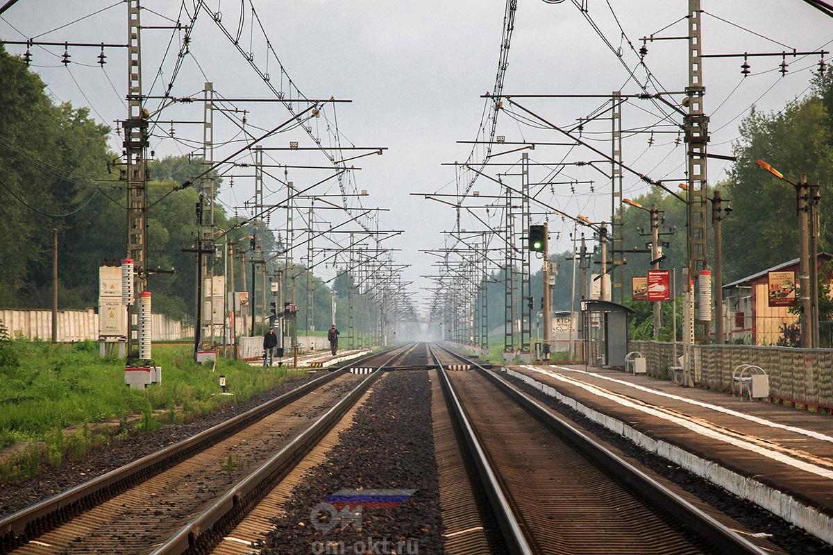 """Платформа Крючково """"Из Твери"""""""