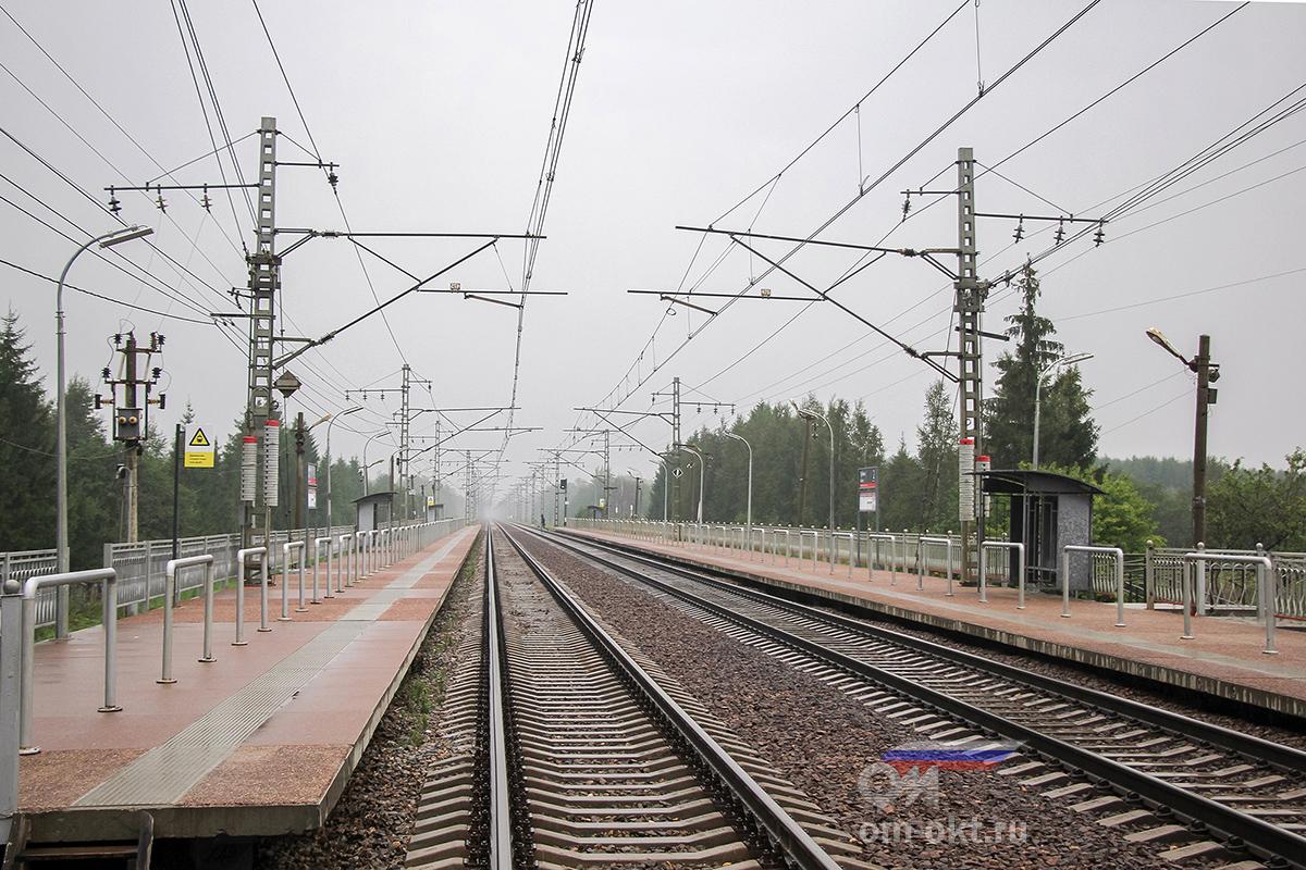 Вид на платформу Трубино со стороны Твери