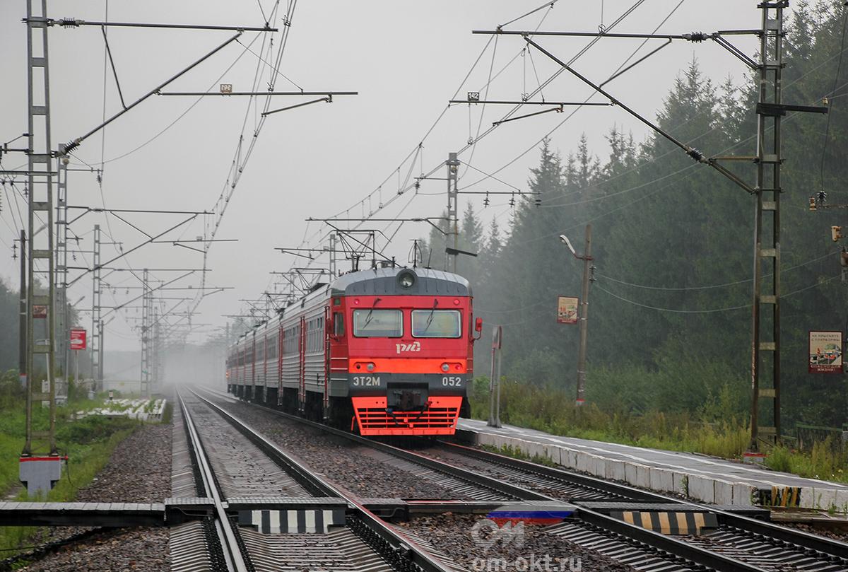 Электропоезд ЭТ2М-052 отправился от платформы Поршинец