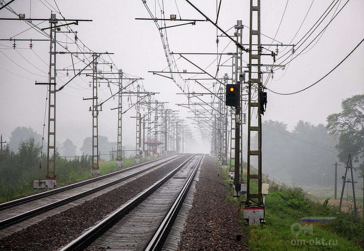 Вид от платформы Тверца в сторону платформы Санаторий
