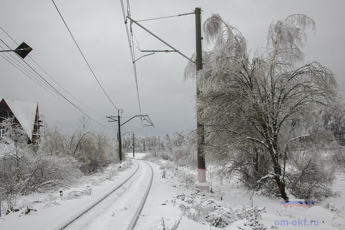 Ледяной дождь на Конаковской ветке