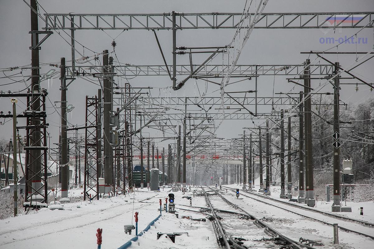 Вид на станцию Решетниково со стороны платформы Черничная