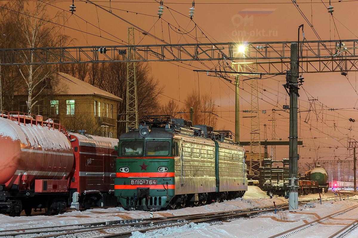 Электровоз ВЛ10У-764 на станции Тверь