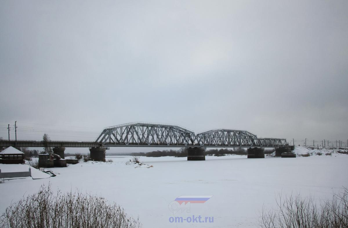 Мост через реку Волхов, перегон Чудово-Московское - Гряды