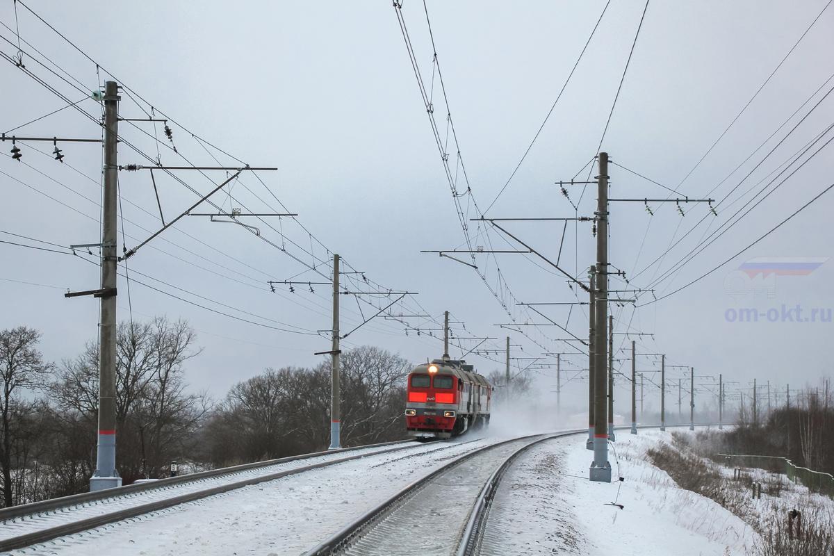 Тепловоз 2М62У-0151 на перегоне Чудово-Московское - Гряды