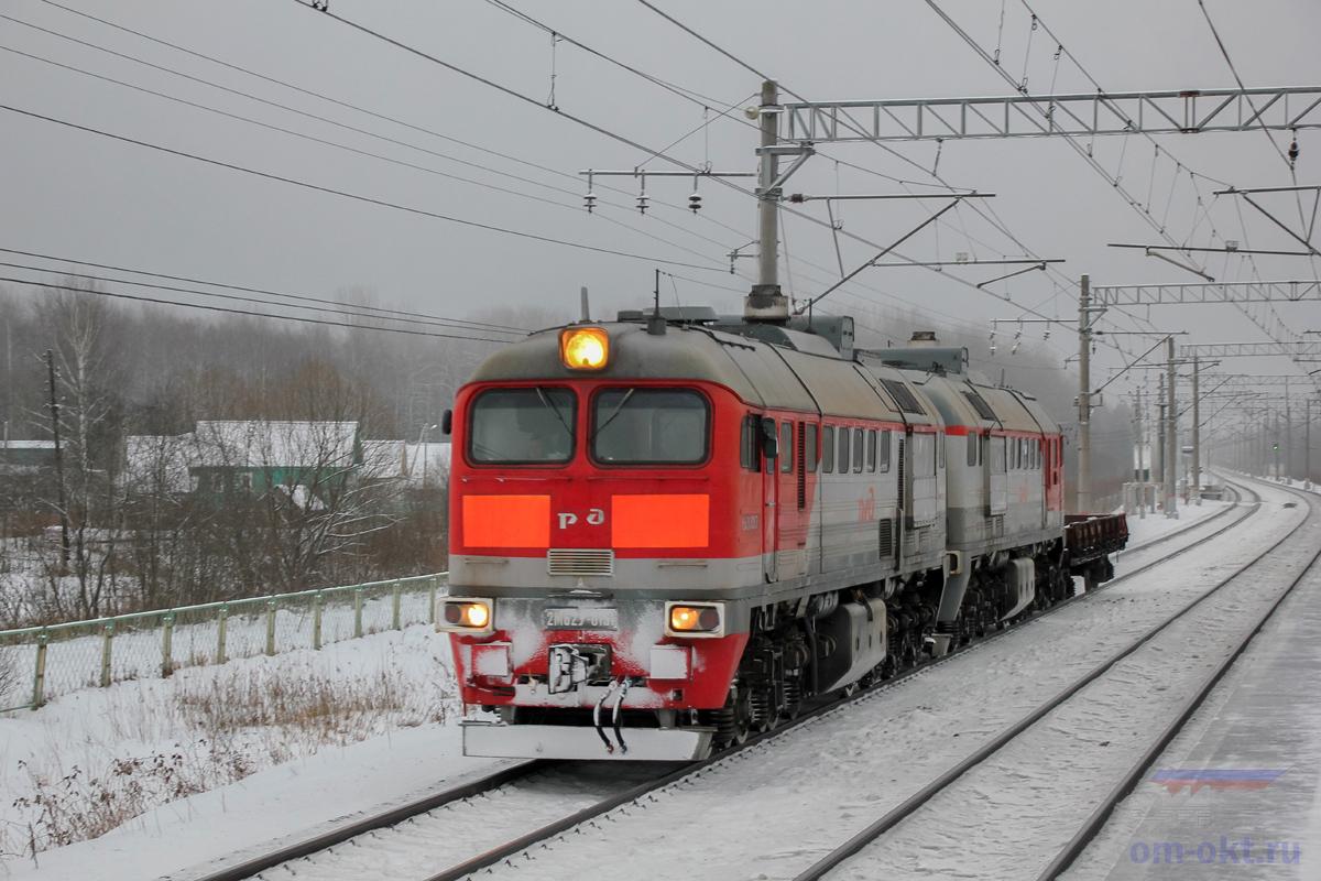 Тепловоз 2М62У-0151 на перегоне Гряды - Чудово-Московское