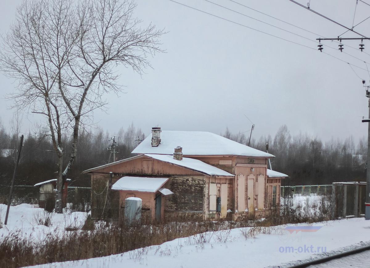 Вокзал на бывшей станции Дубцы
