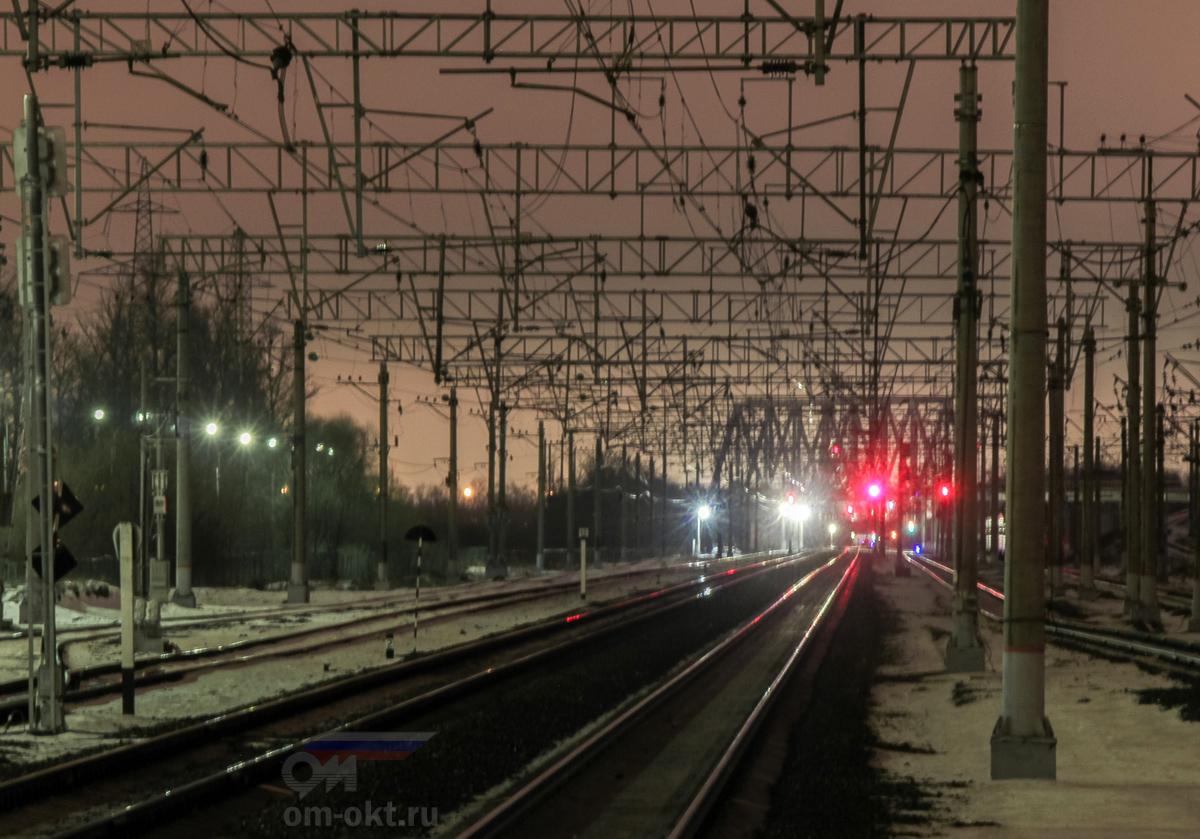 Вид от станции Славянка в сторону платформы Обухово