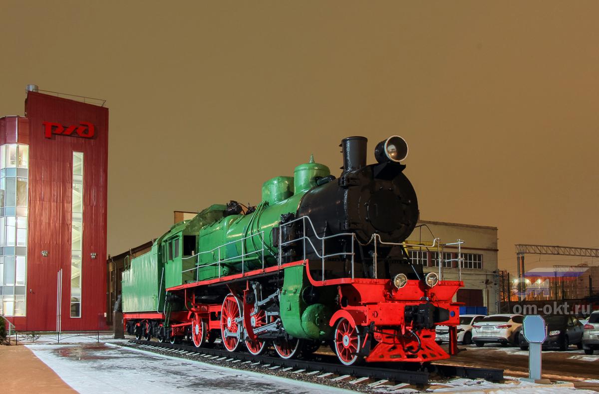 Паровоз Су252-95, депо Санкт-Петербург-Пассажирский-Московский (ТЧЭ-8)