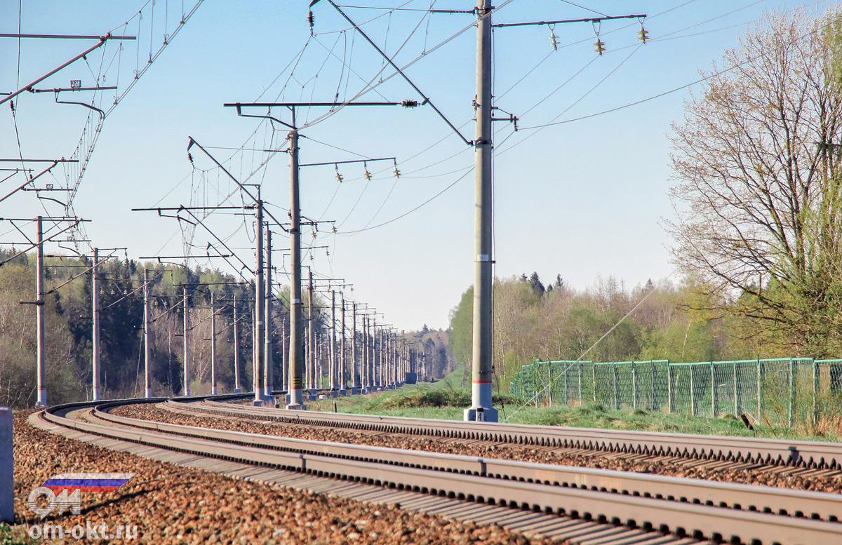 Вид со стороны ст. Подсолнечная в сторону платформы Берёзки-Дачные