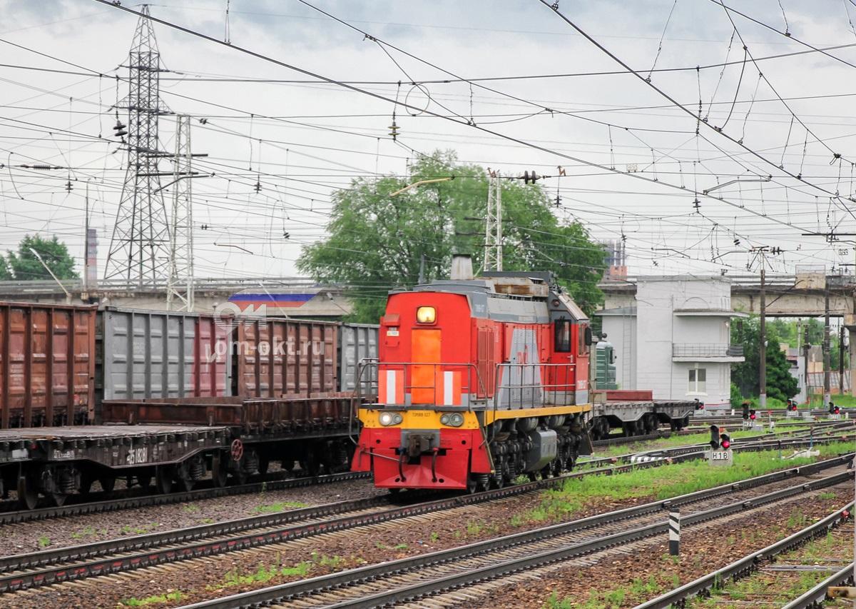 Тепловоз ТЭМ18В-027, станция Тверь
