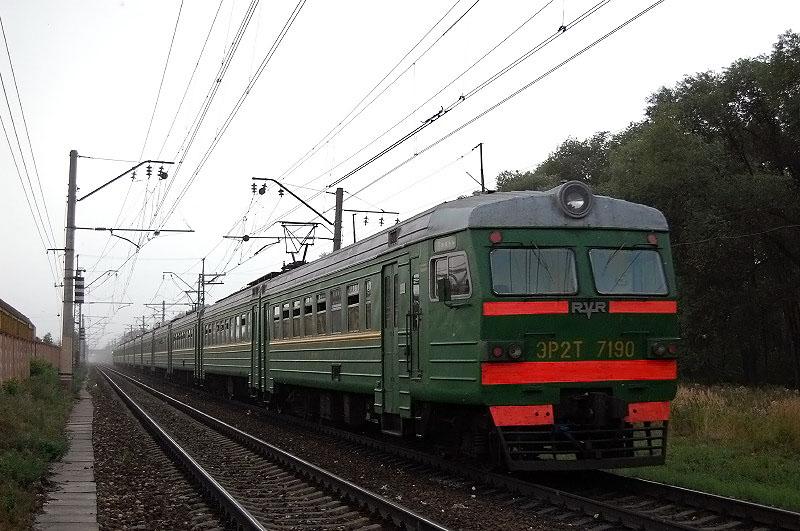 Электропоезд ЭР2Т-7190, перегон Тверь - Редкино