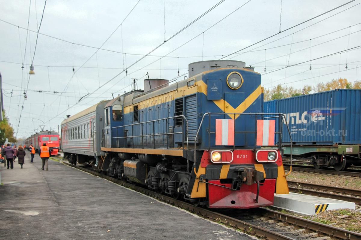 Тепловоз ТЭМ2-6701 на станции Торжок