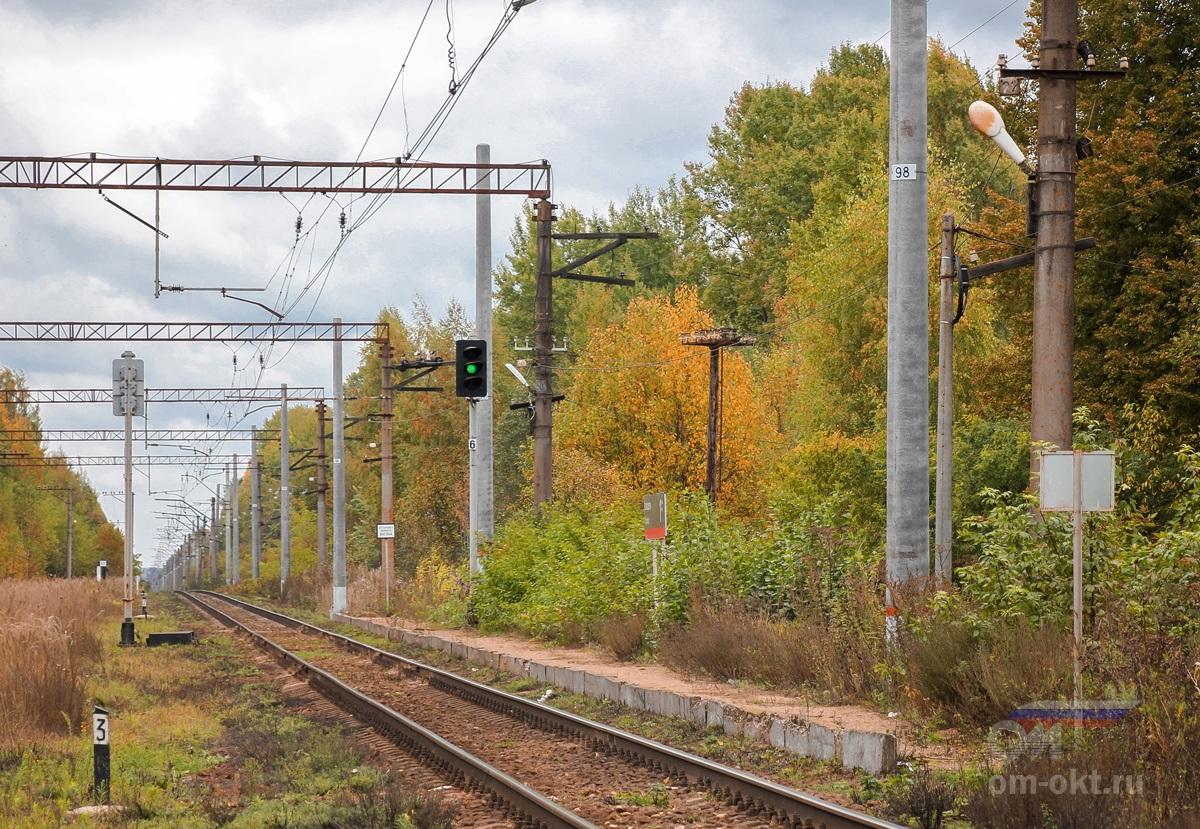 Платформа Колодези, вид в сторону станции Терешкино