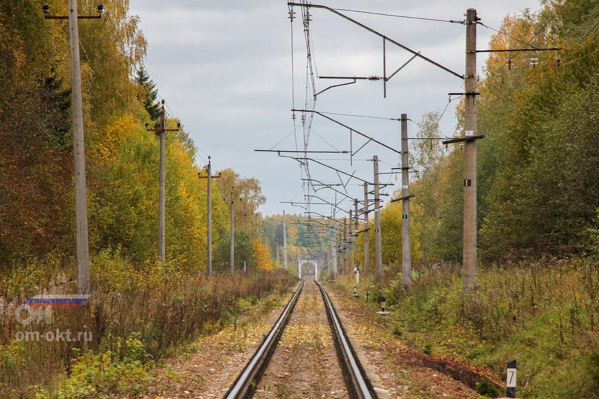 Перегон Терешкино - Торжок, вид в сторону Торжка