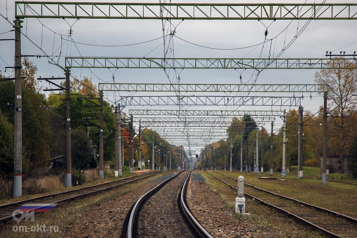 Вид на станцию Терешкино со стороны Торжка