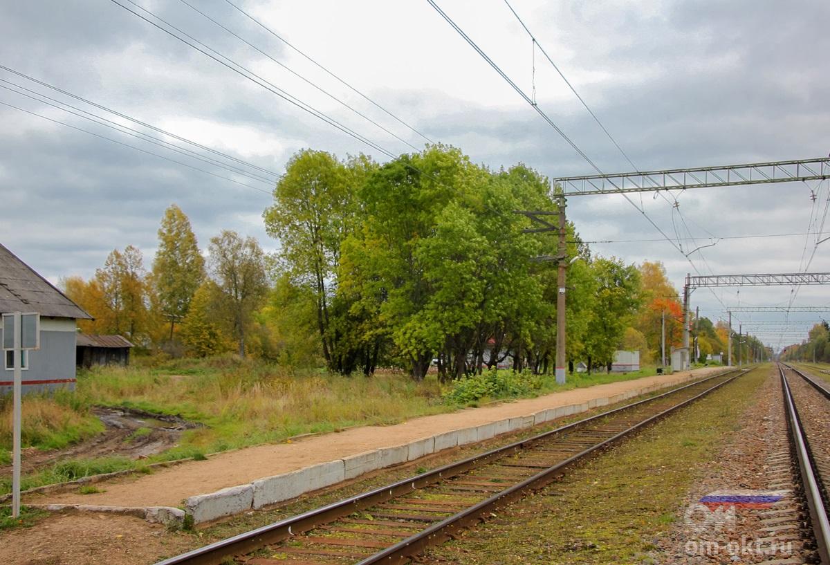 Пассажирская платформа станции Терешкино,