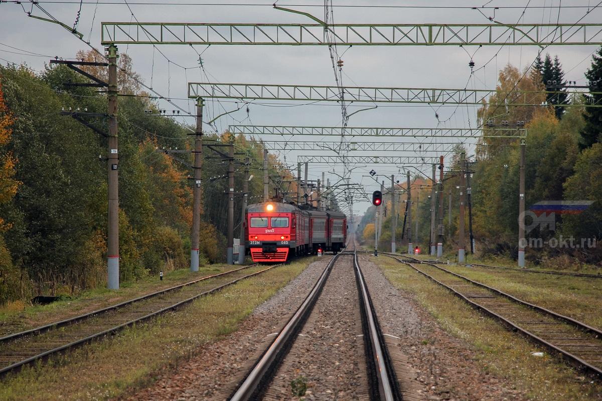 Электропоезд ЭТ2М-045, станция Терешкино