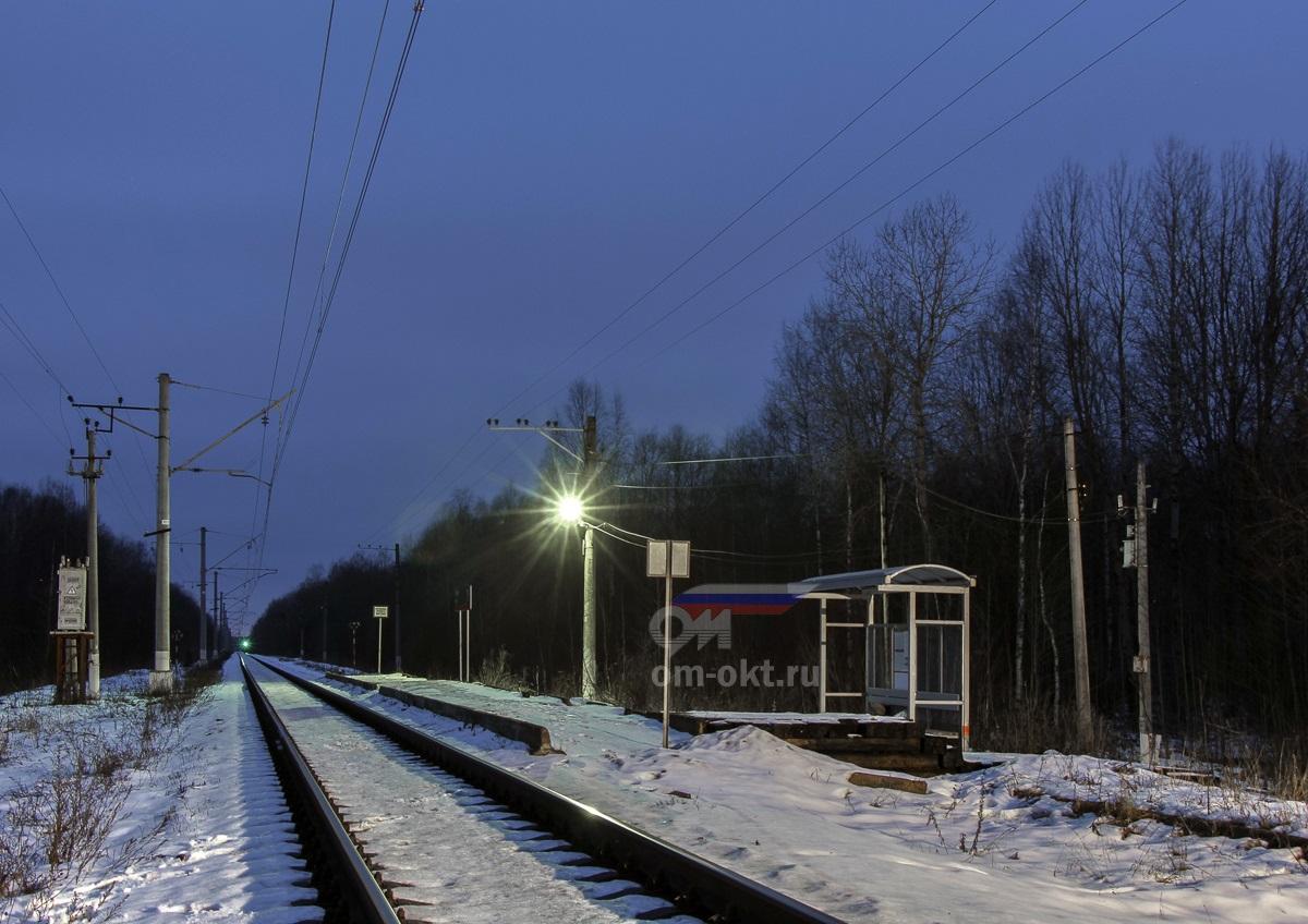 Платформа Лазари, вид в сторону станции Терешкино