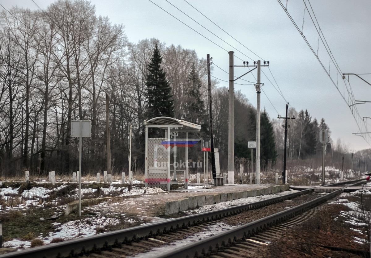 Платформа 9 километр (Ильинское), вид в сторону Лихославля