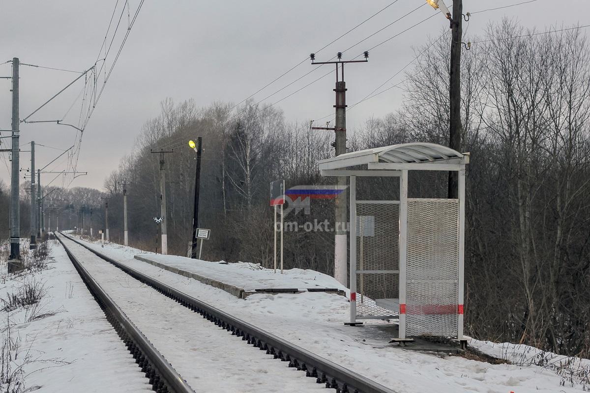 Платформа 7 километр, вид в сторону Терешкино