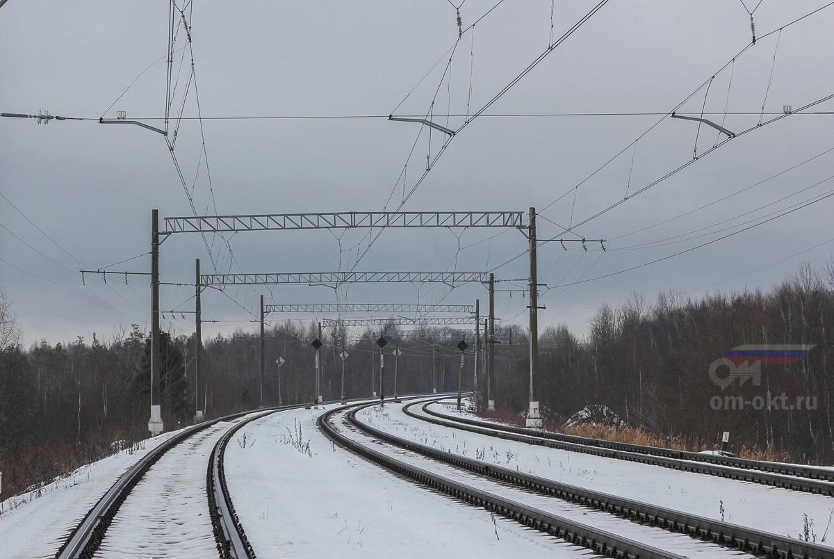 Парк Виноколы станции Лихославль, вид со стороны Торжка