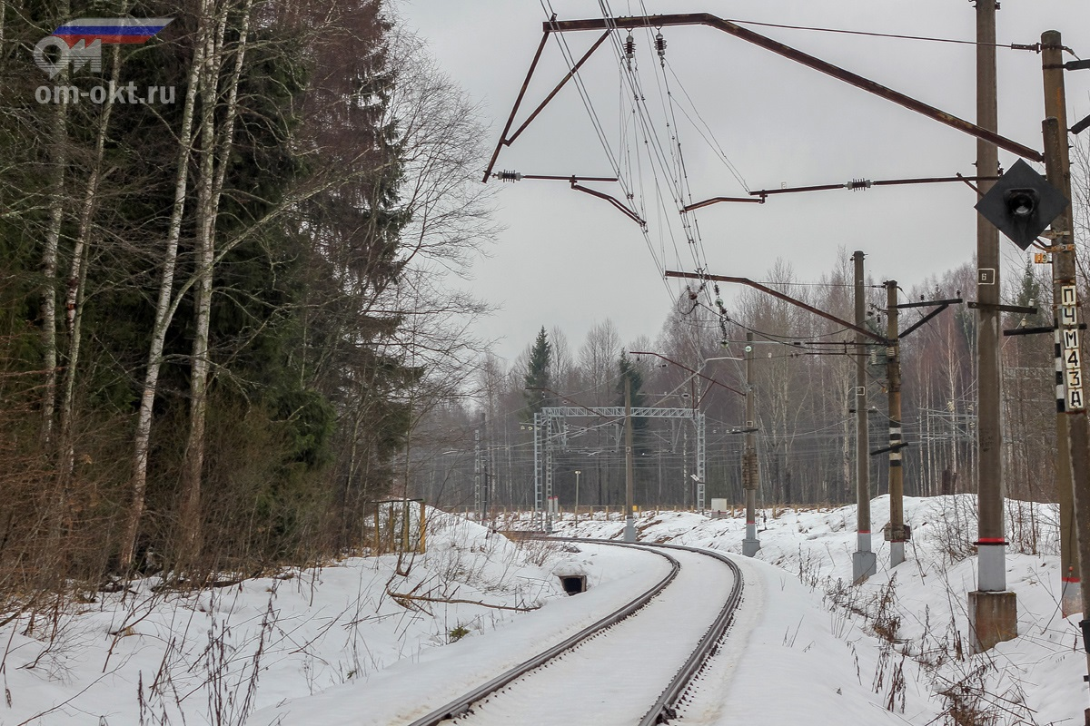 Вид на платформу шлюз со стороны платформы Виноколы