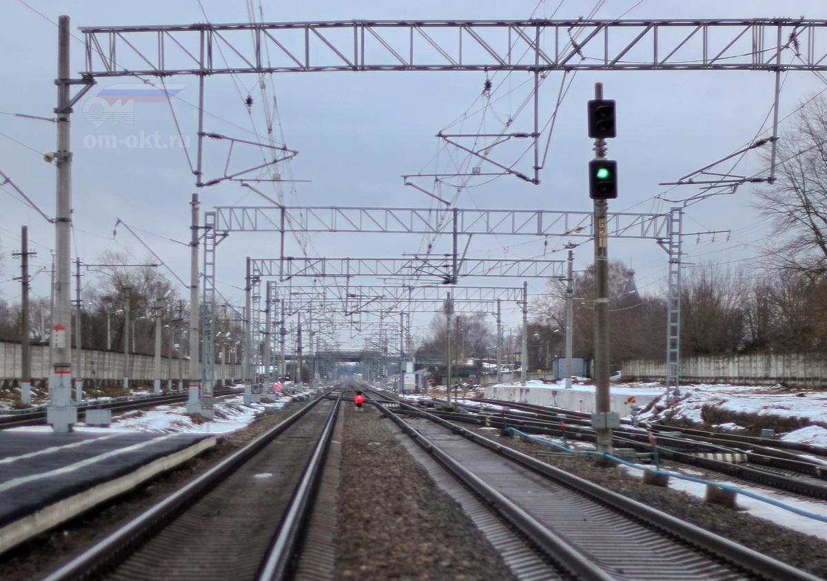 Вид от станции Лихославль в сторону Дорошихи