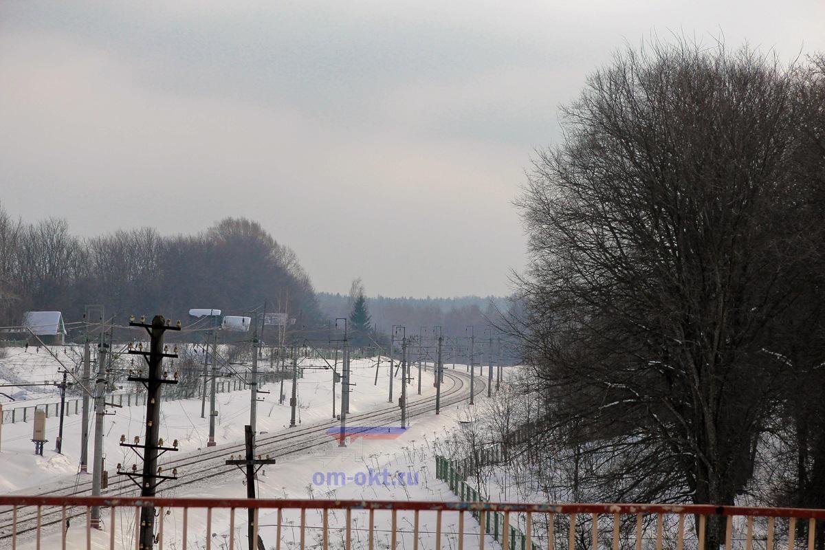 Вид от платформы Фроловское в сторону платформы Покровка