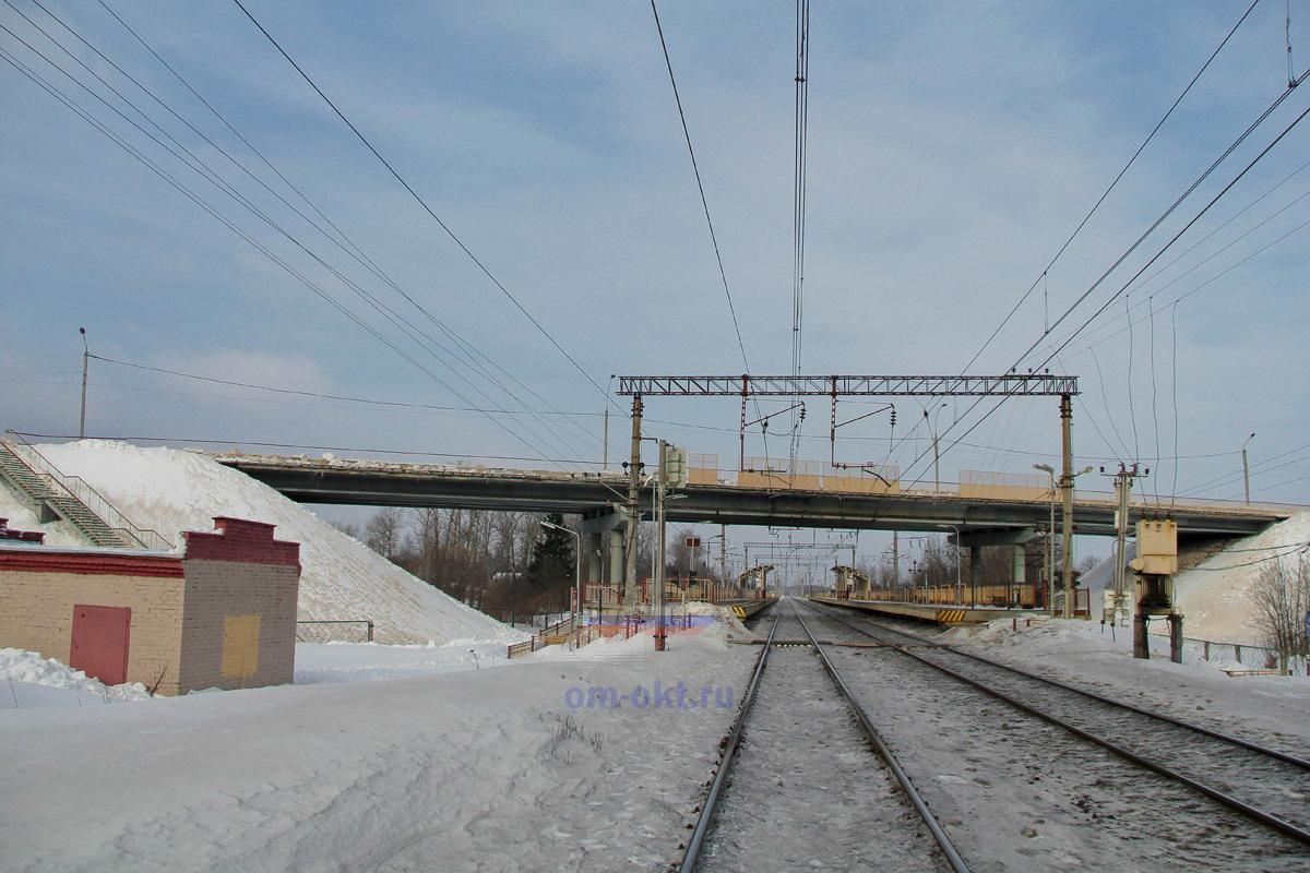 Вид на платформу Фроловское со стороны платформы Покровка