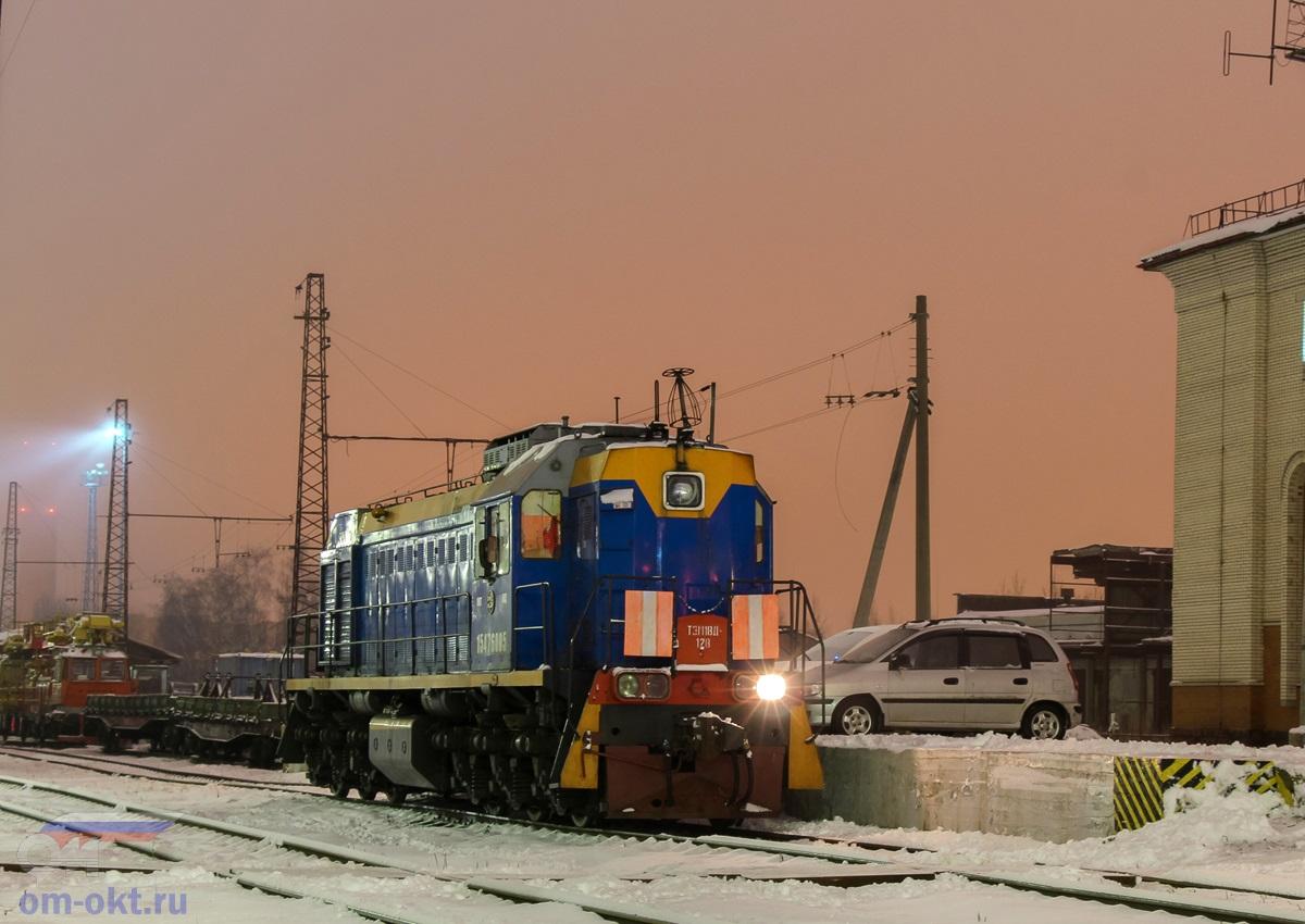Тепловоз ТЭМ18Д-128 на станции Клин
