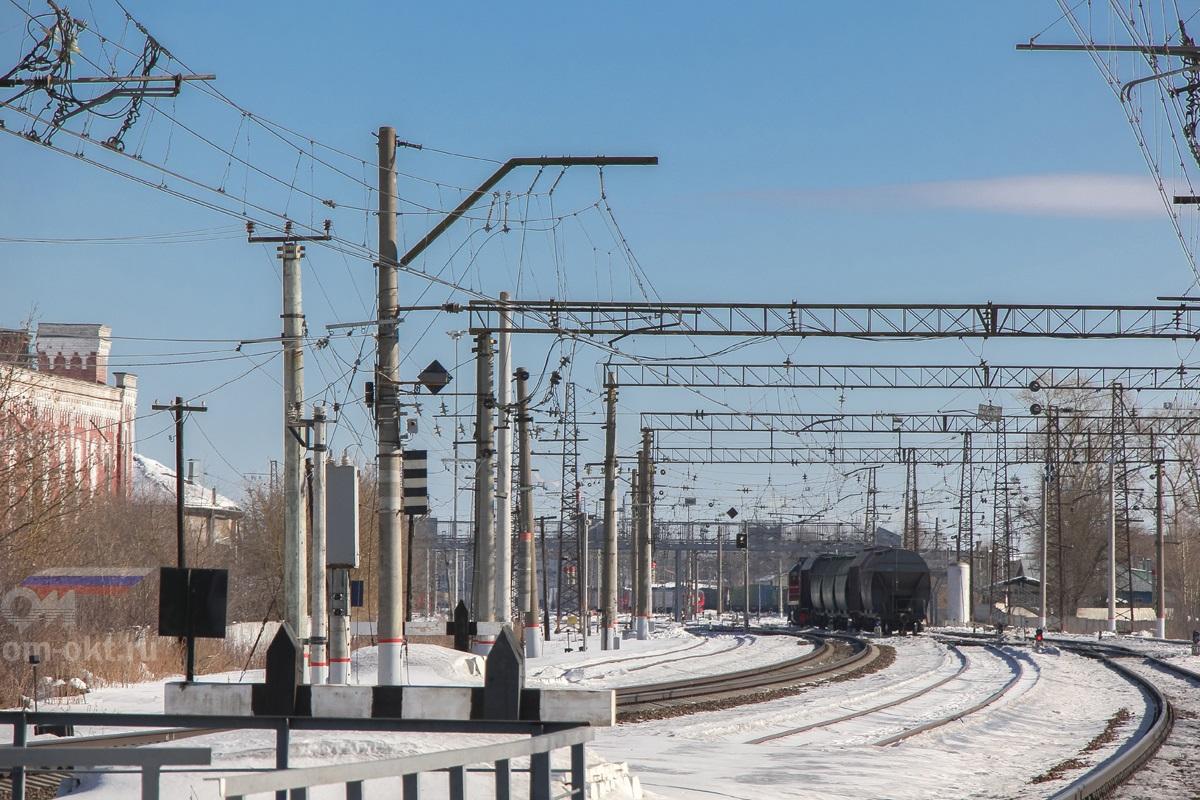 Вид на станцию Тверь со стороны платформы Пролетарская