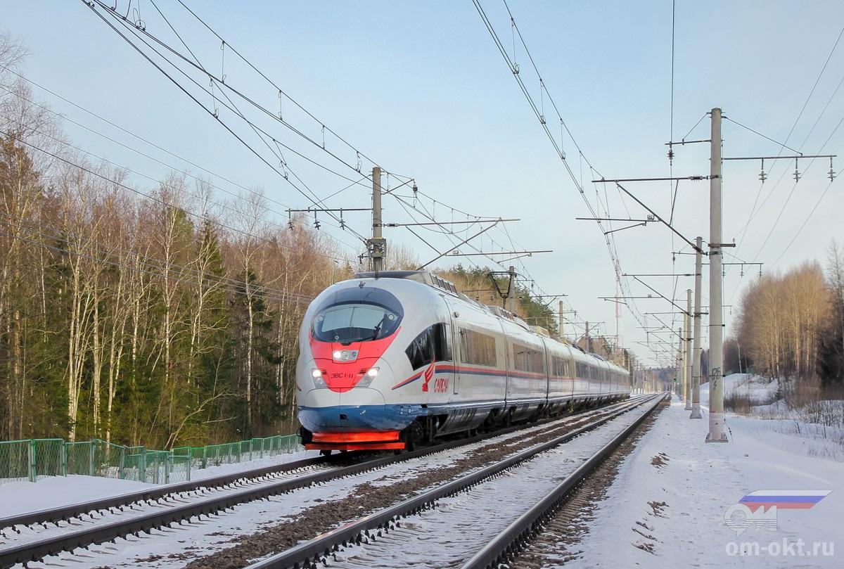 Электропоезд ЭВС1-11, перегон Бушевец - Академическая
