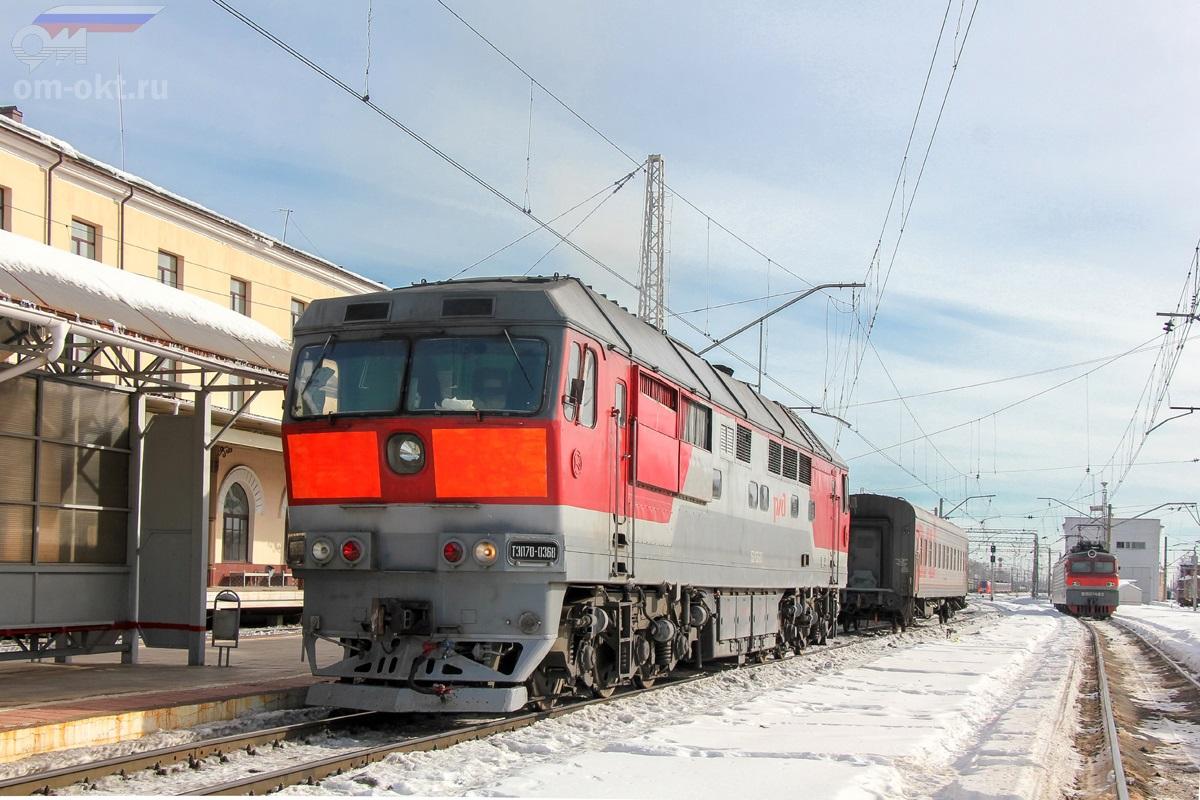 Тепловоз ТЭП70-0368, станция Бологое-Московское