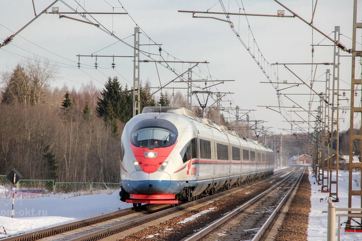 Электропоезд ЭВС1-15, перегон Лихославль - Калашниково