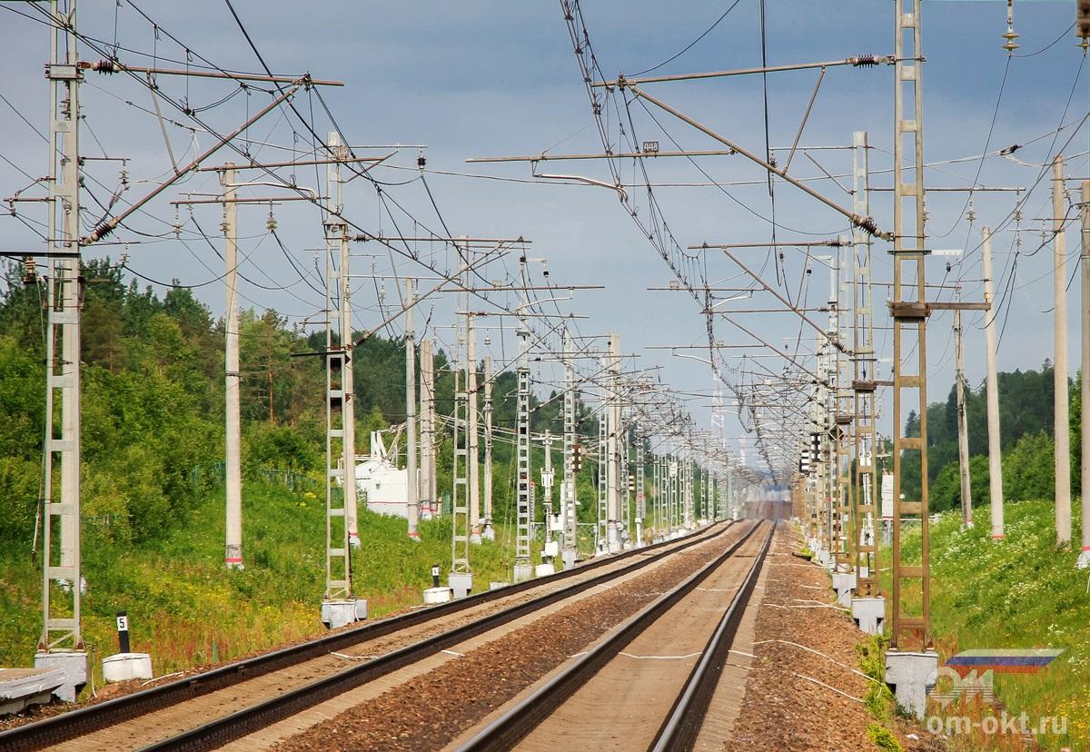 Вид от платформы 204 км в сторону Мстинского моста