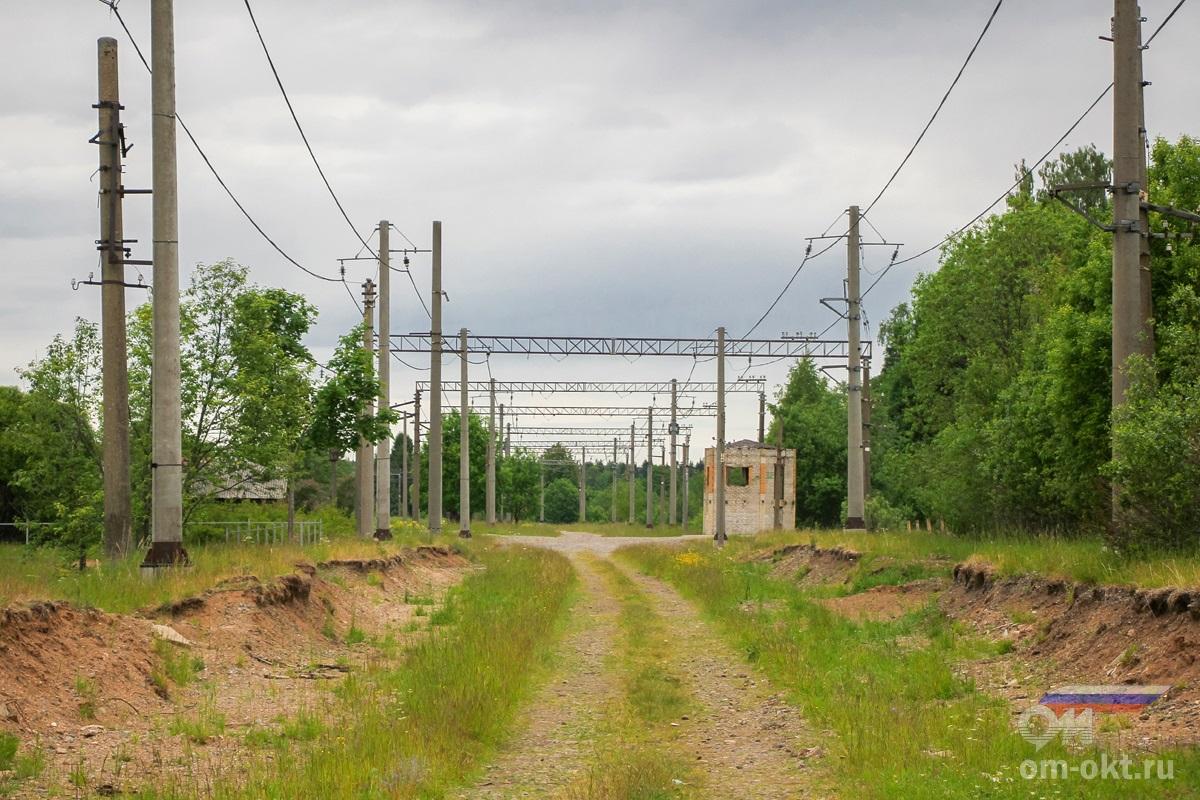 Вид на бывшую станцию Оксочи со стороны Торбино  IMG_2622