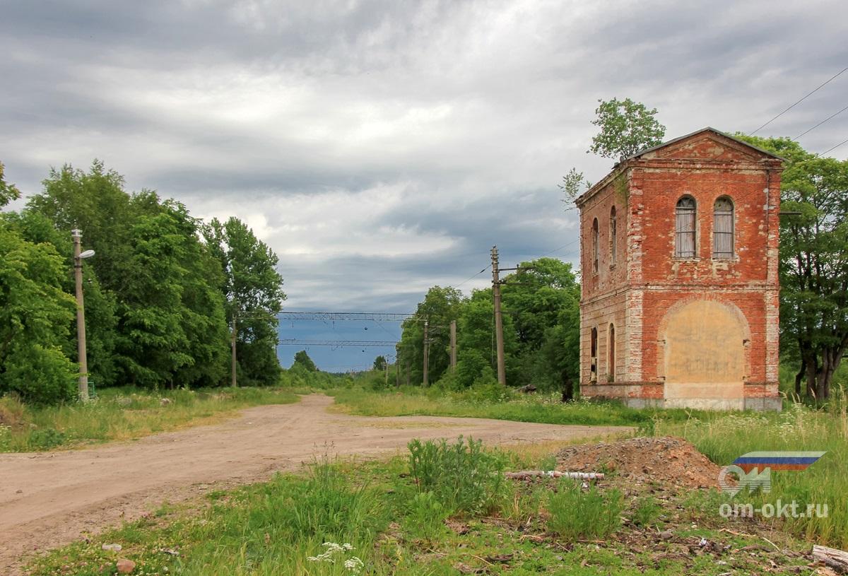 Водонапорная башня на станции Веребье