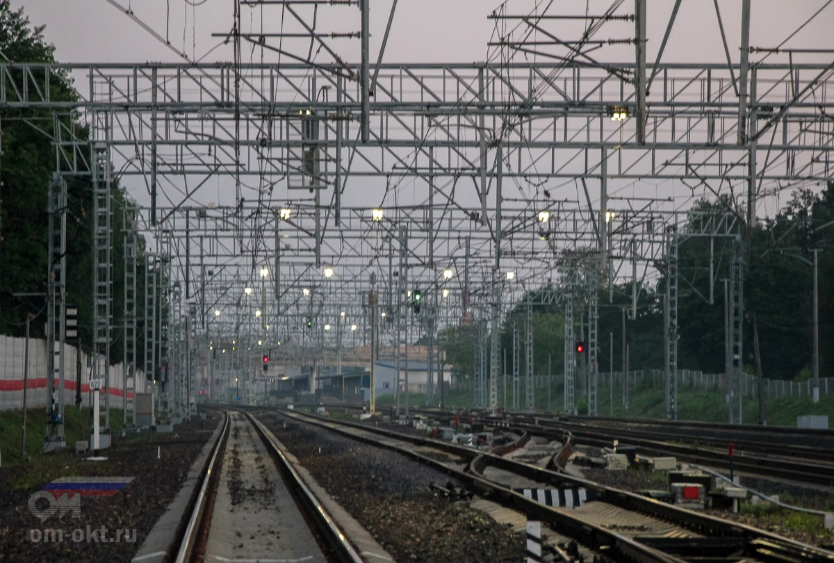 Вид на станцию Сходня со стороны станции Химки