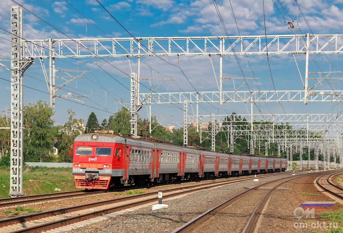 Электропоезд ЭТМ-117 на перегоне Сходня - Химки