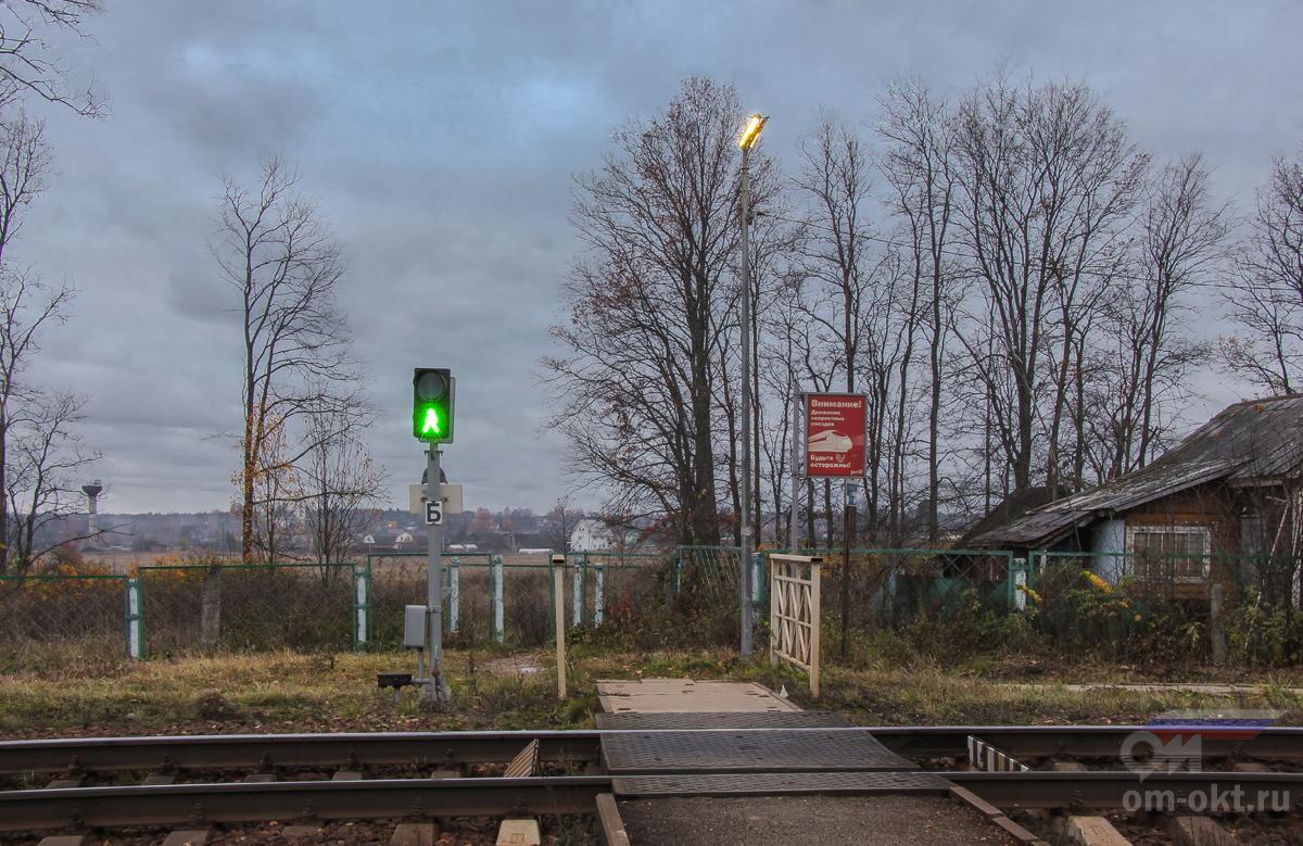 Пешеходный настил у платформы Головково