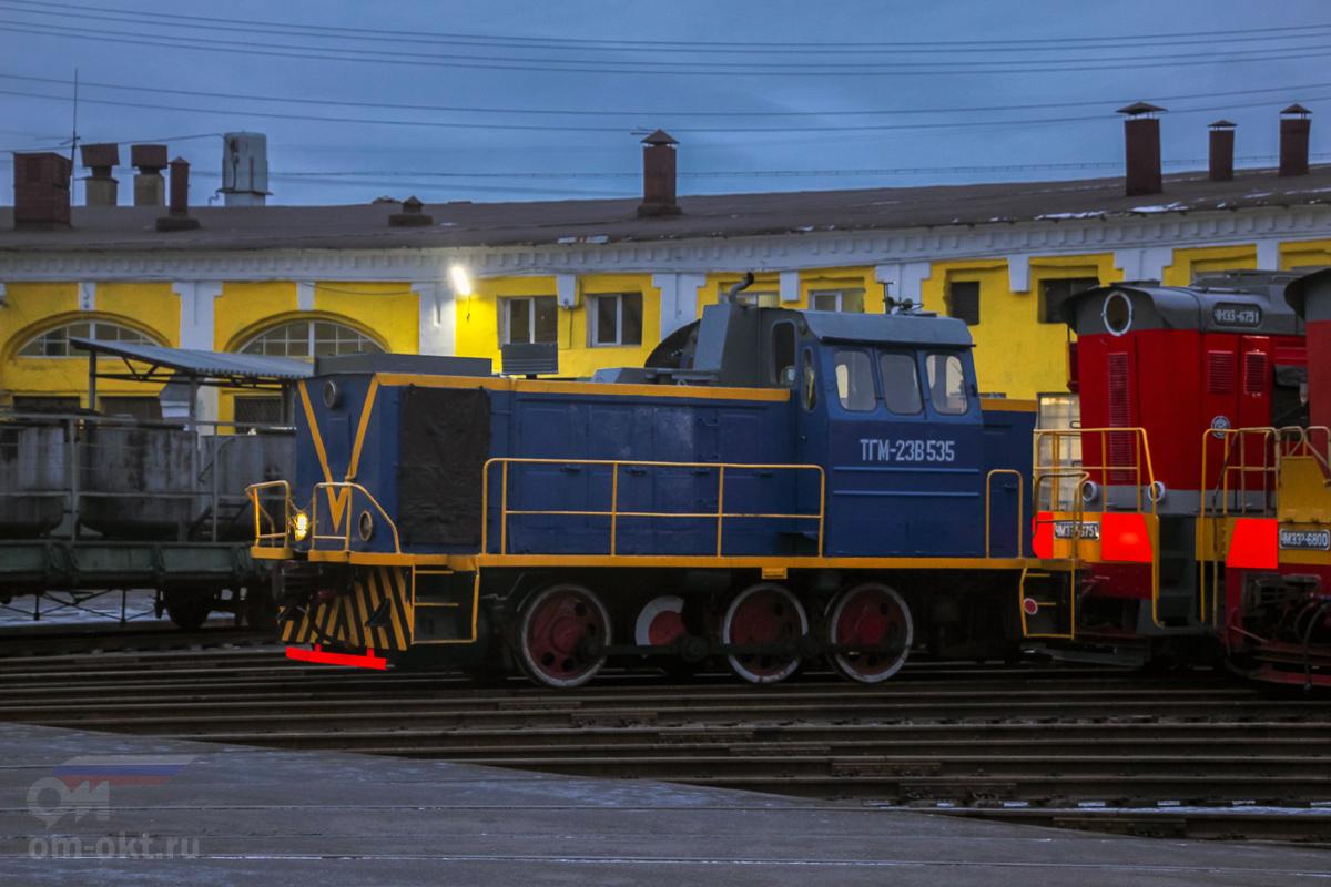 Тепловоз ТГМ23В48-535, депо Санкт-Петербург-Сортировочный-Московский