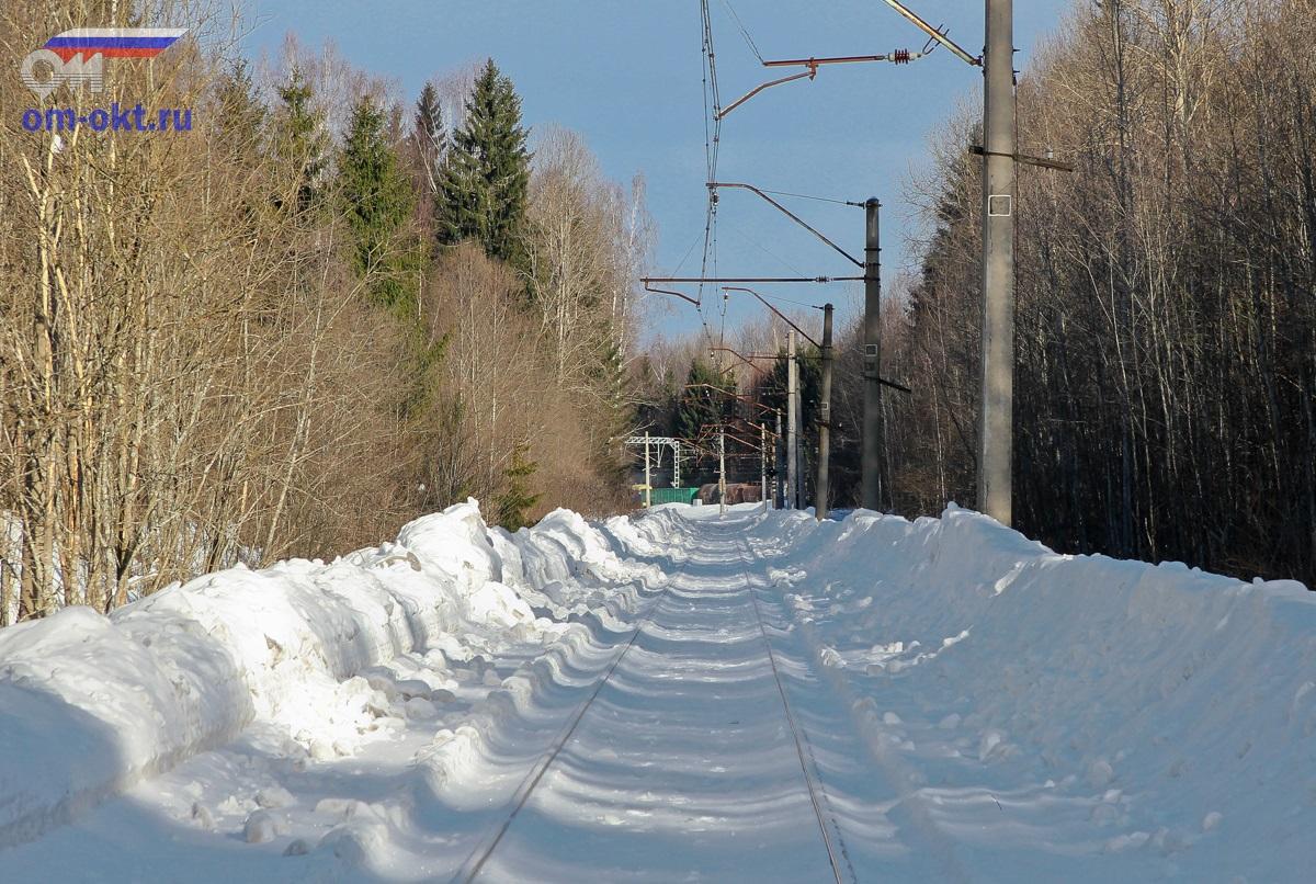 Грузовой поезд проследует станцию Шлюз
