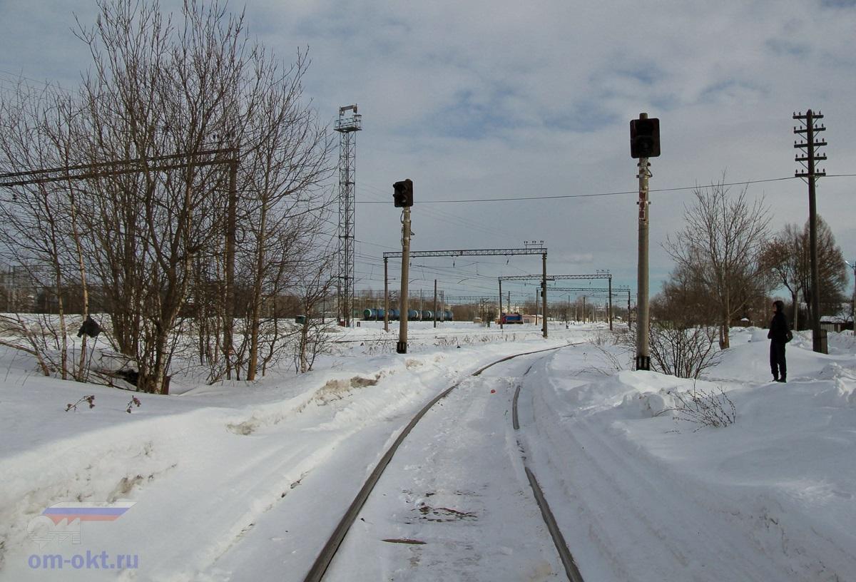 Подъездной путь от станции Лихославль к заводу «Светотехника»
