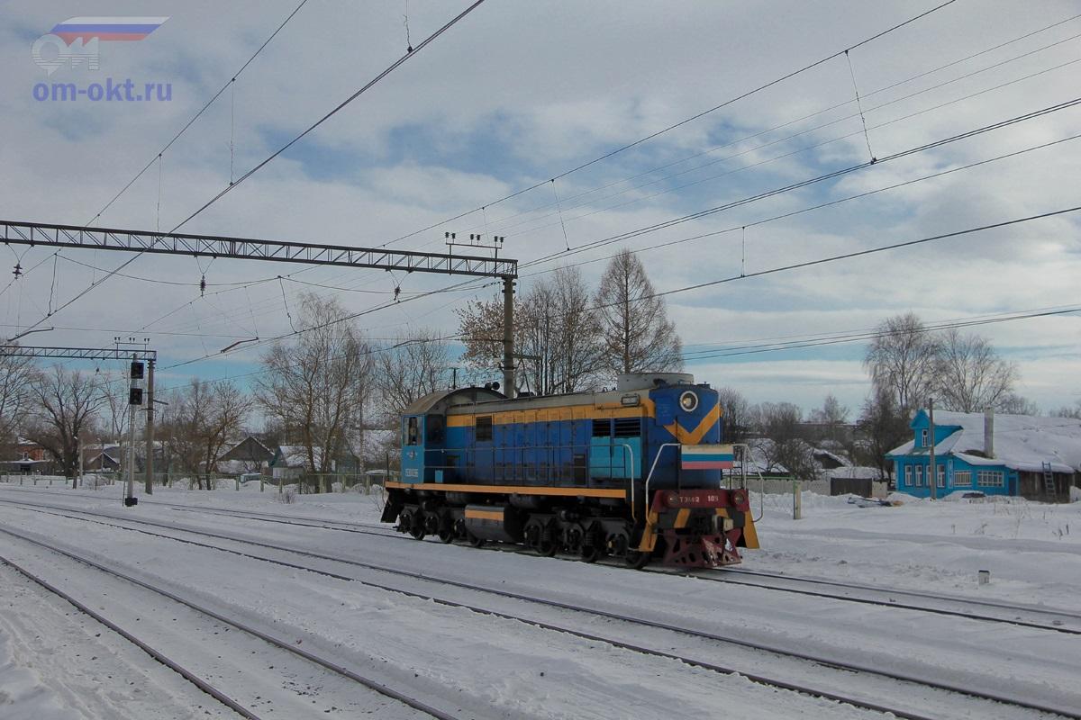 Тепловоз ТЭМ2-109 проследует станцию Лихославль
